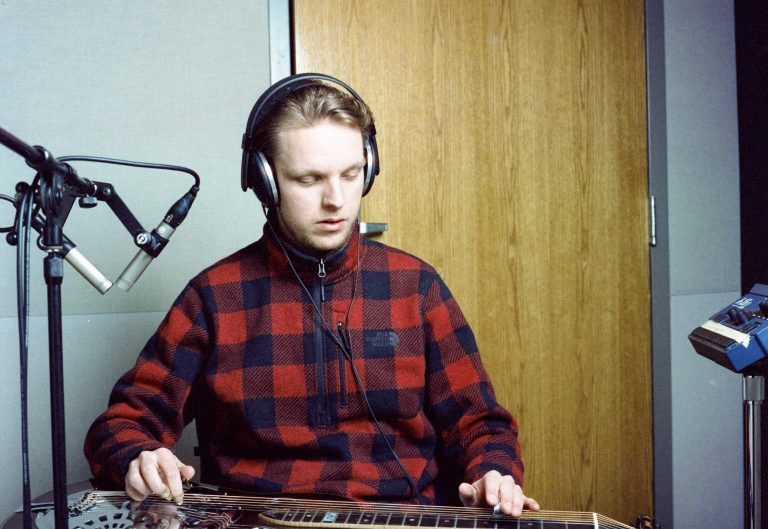 Dobro recording @ ETSU Recording Lab - Photo by Ben Bateson