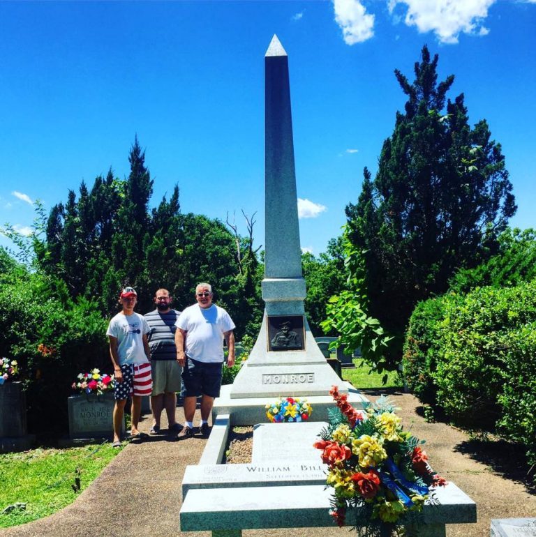 With Mike Bub and Tyler Griffith @ Bill Monroe's Grave in Rosine Kentucky