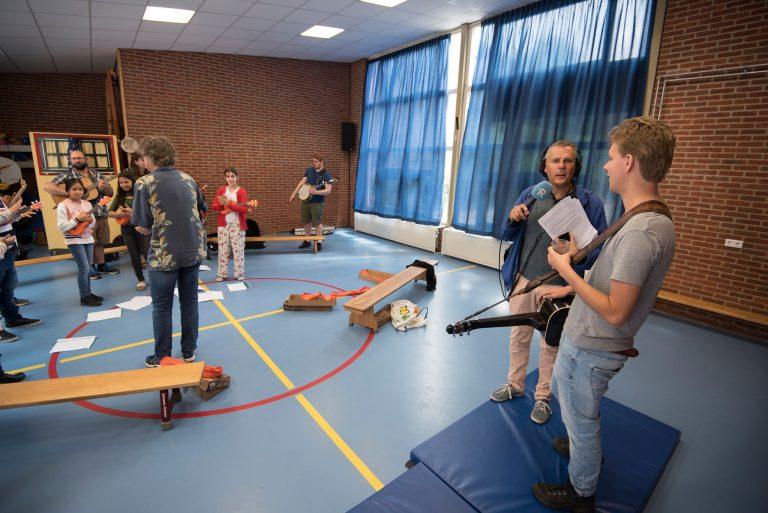 Bluegrass workshop at elementary school in Rotterdam